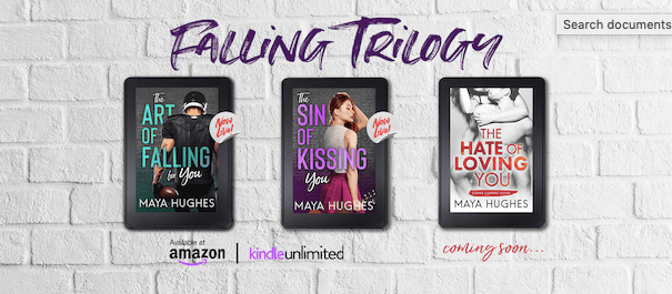Release Blitz Review:  The Sin of Kissing You (Falling #2) by Maya Hughes