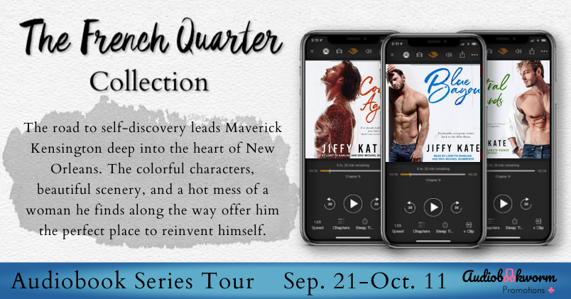 Audiobook Blog Tour Review:  Blue Bayou (French Quarter Collection #1) by Jiffy Kate
